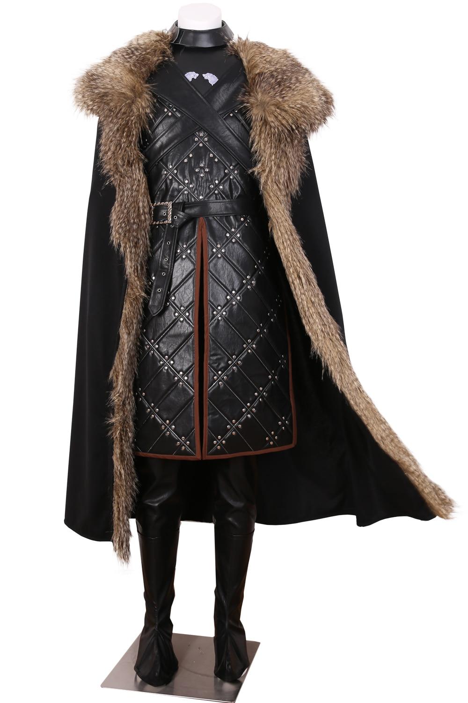 Game Of Thrones Season7 Jon Costume de bataille de neige Costume de Cosplay fait sur commande n'importe quelle taille