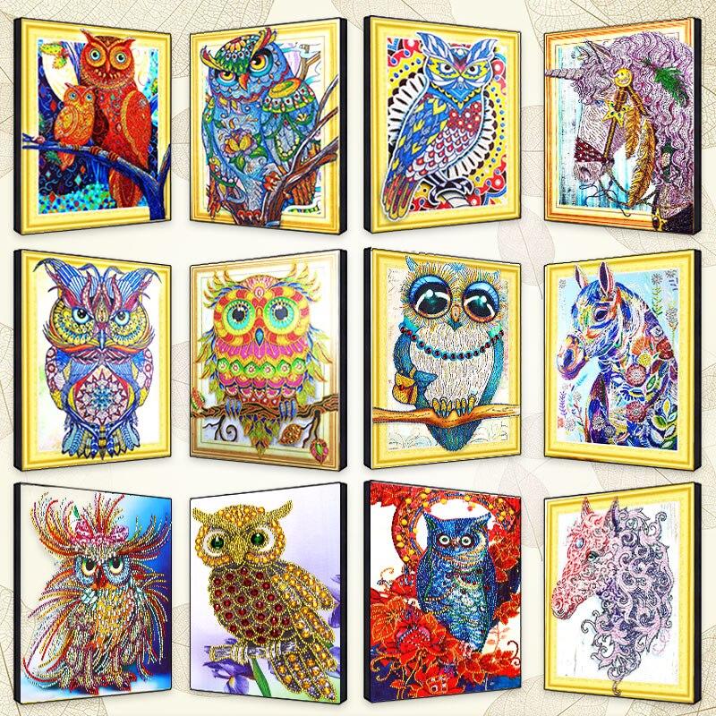 animal Owl Specail Diamond Painting plein DIY 5D Diamond Mosaic Cross Stitch horse specail Diamond Embroidery Full drill