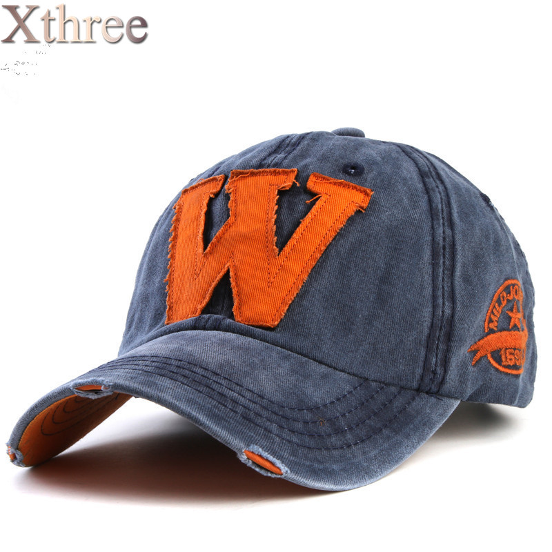Xthree hot cotton embroidery letter W baseball cap snapback s