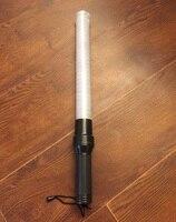 54 см * см 4 см наружная белая трубка светодио дный сигнал безопасности дорожного движения Предупреждение мигающая палочка дубинка полиция ref...