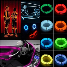 1M/2M/3M/5M 3V Flexible Neon Light LED Strip Battery luminaire Glow Wire LED Shoes Neon Lights Clothing Car Accessories