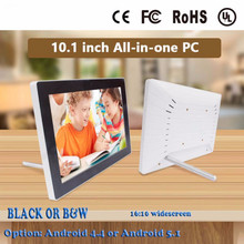 android 4.4/5.1 touch screen White or black 10.1 inch IPS Android touch advertising all in one pc