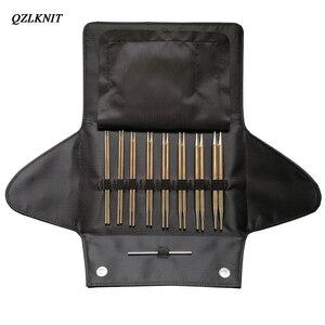 Image 2 - QZLKNIT 100cm,80cm y 60cm tubo de Nylon de alta calidad conjunto de agujas de tejer circulares intercambiables hilo DIY accesorios de punto
