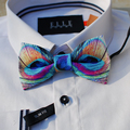 New Free Shipping fashion 2016 casual Men's male peacock feather series dress groom gift wedding party unique bow tie promotion