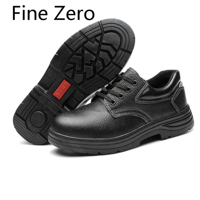 Fine Zero 2019 mens high tops suede plus size steel toe caps working safety shoes outdoors male botas site tooling ankle boots