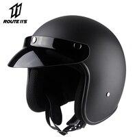 VOSS Motorcycle Helmet Retro Vintage Helmet For Motorcycle 3/4 Open Face Crash Helmet Casco Casque Helmets Casco Moto