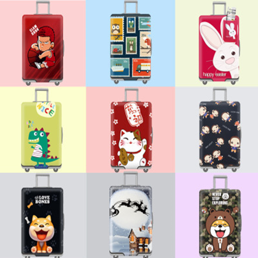Cartoon Cute Design Luggage Protective Cover Travel Suitcase Cover Elastic Dust Cases For 19 To 32 Inches Travel Accessories