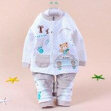 Пижамы с длинными рукавами для малышей и малышей; комплект одежды для сна для малышей; нижнее белье с рисунком