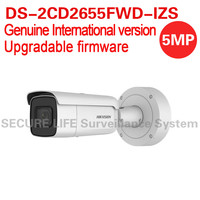 International English Version DS 2CD2655FWD IZS 5MP Network Bullet Ip CCTV Camera Face Detection WDR VF