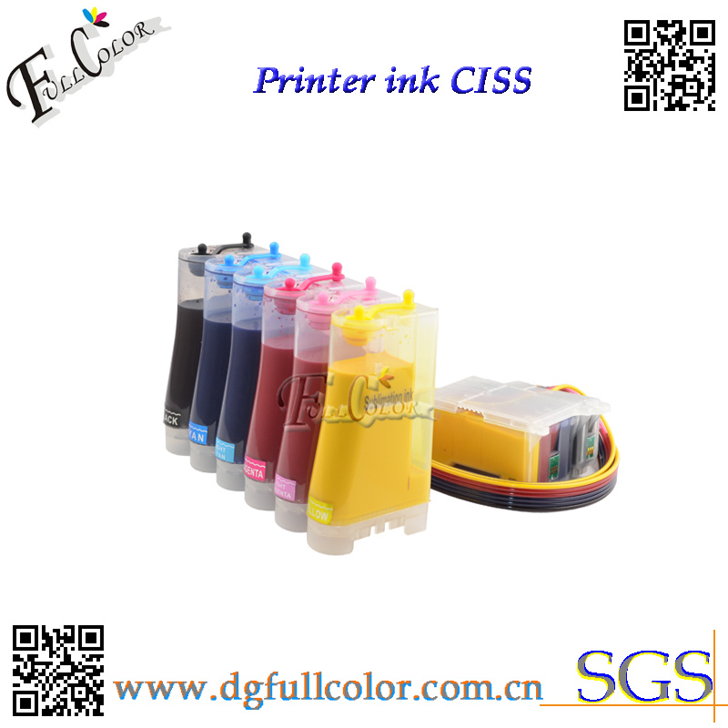 Free Shipping 6color Sublimation Ciss Ink System With Sublimation Ink For Epson Photo 1290 Printer