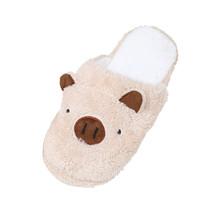 Śliczna świnka pantofle domowe bawełniane kapcie z tkaniny pantofle domowe kapcie podłogowe dla kobiet kapcie zimowe tanie tanio MUQGEW Syntetyczny CN (pochodzenie) RUBBER Niska (1 cm-3 cm) Pasuje prawda na wymiar weź swój normalny rozmiar Hairy home slippers
