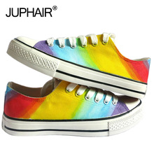 JUP Shoes Men Women Girl Hand-painted Flats EXO Galaxy Colorful Footwear Mens Shoes Sales Chaussure Mary Jane Ballet Espadrilles jup men graff boy girl newest despicable me spongebob pattern design hand painted canvas shoes couples high top fashion footwear