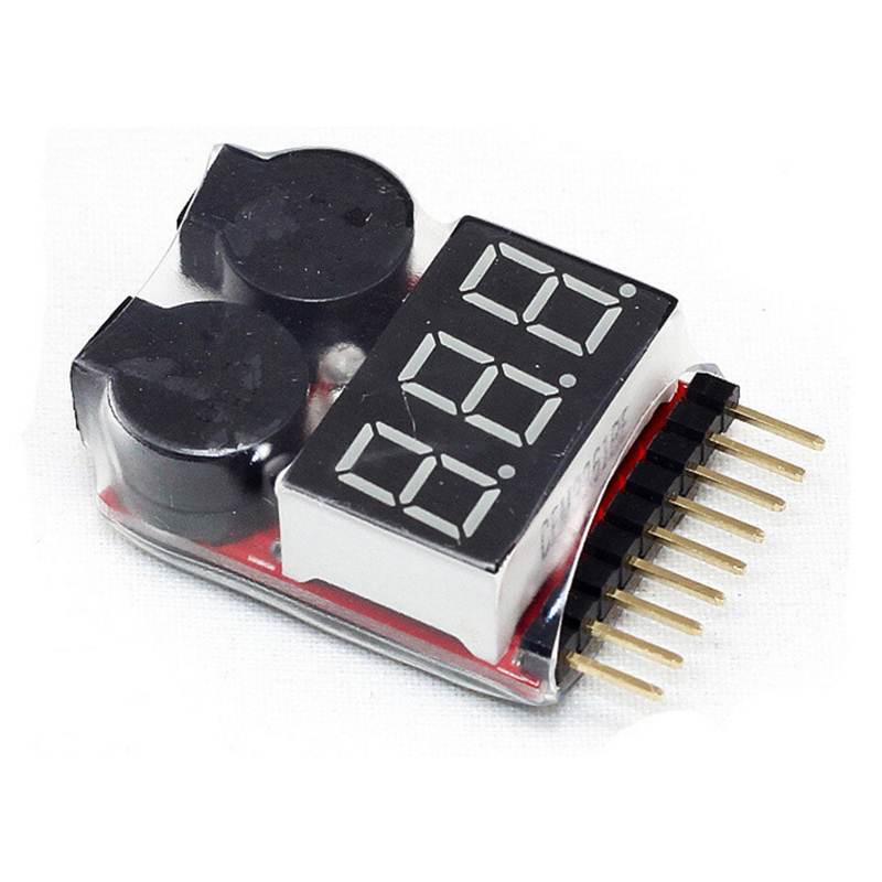 500pcs 1-8S Low Voltage Buzzer Alarm 1-8S Lipo/Li-ion/Fe Battery Voltage 2IN1 Tester Original Vistapower For RC BB Ring 5pcs hotrc bx100 1 8s lipo battery voltage tester low voltage buzzer alarm battery voltage checker with dual speakers