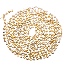 2.7 m Plastic Beads Christmas Tree Decoration Gold Color Party Tinsel Xmas Window Party Hol
