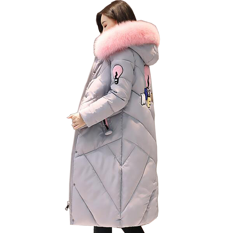 Women coat 2017 new Plus Size Winter Jakcet Women Cotton Jacket Long Thick Parkas Female Cotton Padded Warm Coat Outerwear LU48 women s winter coat new parkas female thick padded cotton long outwear plus size parka casual jacket coat women c1251