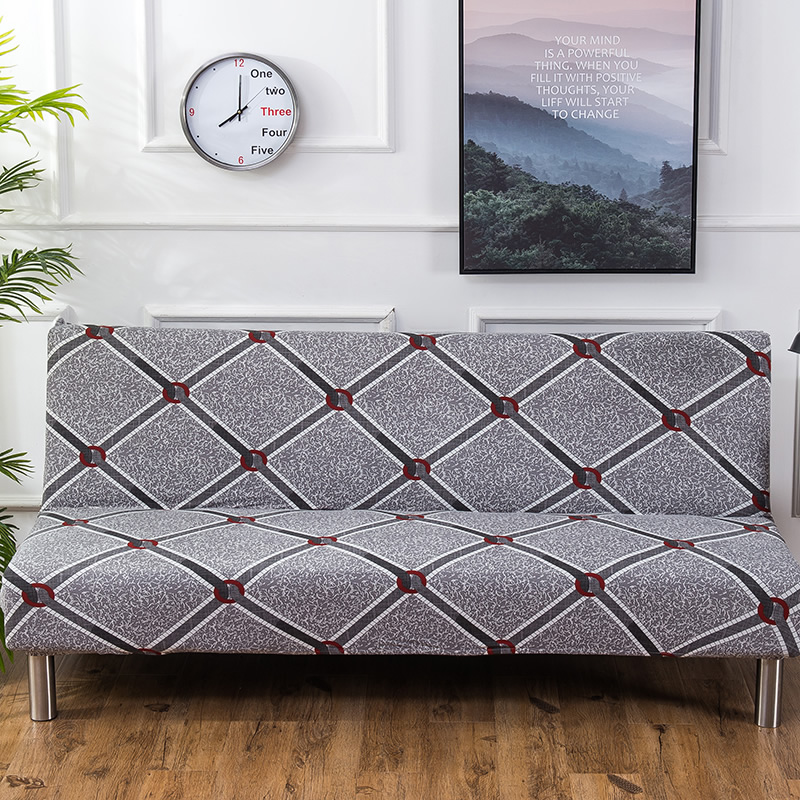 2018 New style Armless Sofa Bed Cover Folding seat slipcovers stretch covers cheap Couch Protector Elastic bench Futon Cover