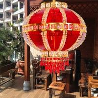 Chinese home new Year red pendant light balcony corridor wedding festival lantern Shop decoration pendant lamps ZA119939