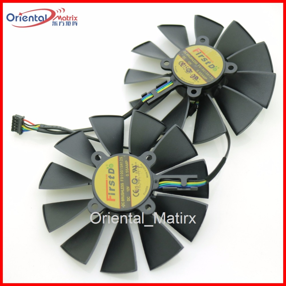 Free Shipping FD10015H12S 12V 0.55A 95mm VGA Fan For ASUS GTX780 GTX780TI R9 280 290 280X 290X 380 Graphics Card Cooling Fan everflow 75mm 2pin 2lines 0 2a t128010sm computer radiator graphics card cooler fan for gigabyte radeon r9 270x 280x vga cooling