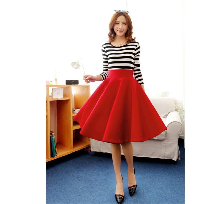 Aliexpress.com : Buy Women black midi skirts autumn winter satins ...