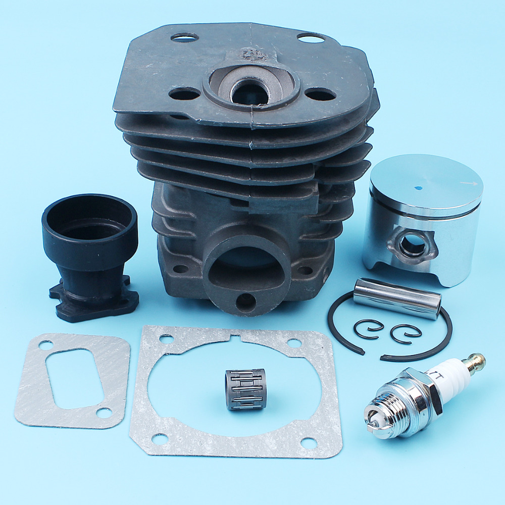 Nikasil Plated Cylinder Piston Kit Gasket For Husqvarna 350 351 353 346XP (44mm) Chainsaw Intake Manifold Needle Bearing Spark 44mm cylinder head piston gasket kit for husqvarna 350 346 246xp 351 353 chainsaw 503869971