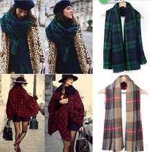 Fashion Winter Neck Warm Large Checked Plaid Scarf font b Tartan b font Wrap Shawl Stole