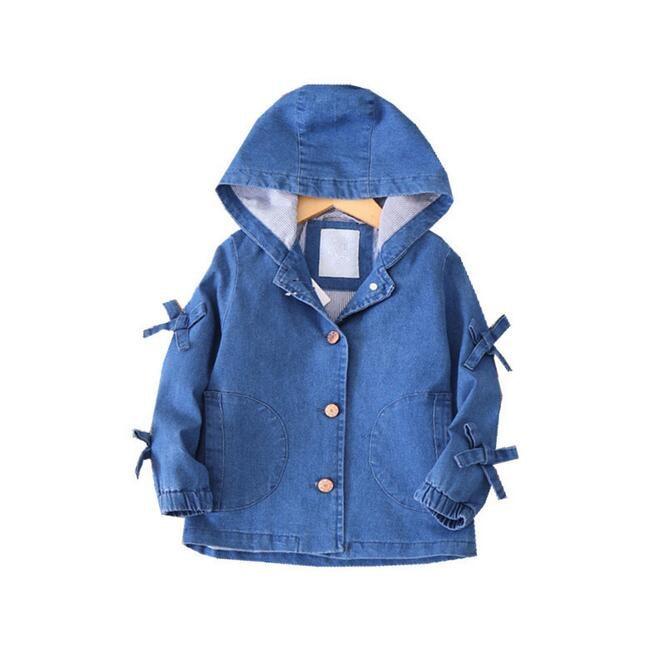 Y 2018 Autumn Fashion Baby Jacket For Girls Jacket Denim Coat for Girls Clothes For Girls Clothes Children baby Clothes цена 2017