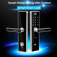 Eseye Smart Lock цифровой электронный замок двери безопасной Смарт дверные замки отпечатков пальцев замок с паролем и RFID разблокировать