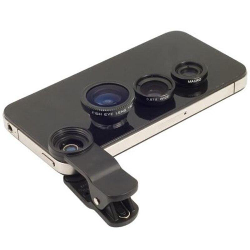 Рыбий глаз Универсальный 3 в 1 мобильный телефон чип линзы Рыбий глаз Широкий угол макро камеры для телефона 6 5S/5 и все другое смартфонов