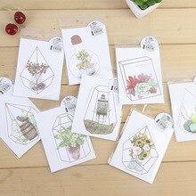 1 шт. канцелярские товары креативное моделирование Цветочный дом история поздравительная открытка растение Цветочная открытка