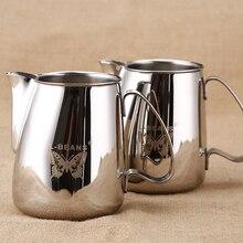 304 Stainless Steel Milk Frothing Jug Espresso Coffee Pitcher Barista Craft Latte 500ml