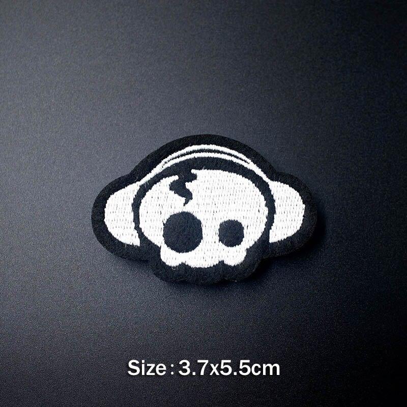 Удивительные сумасшедшие черепа DIY тканевые значки для украшения нашивки джинсы сумка шляпа Одежда Швейные украшения аппликация нашивки - Цвет: 15