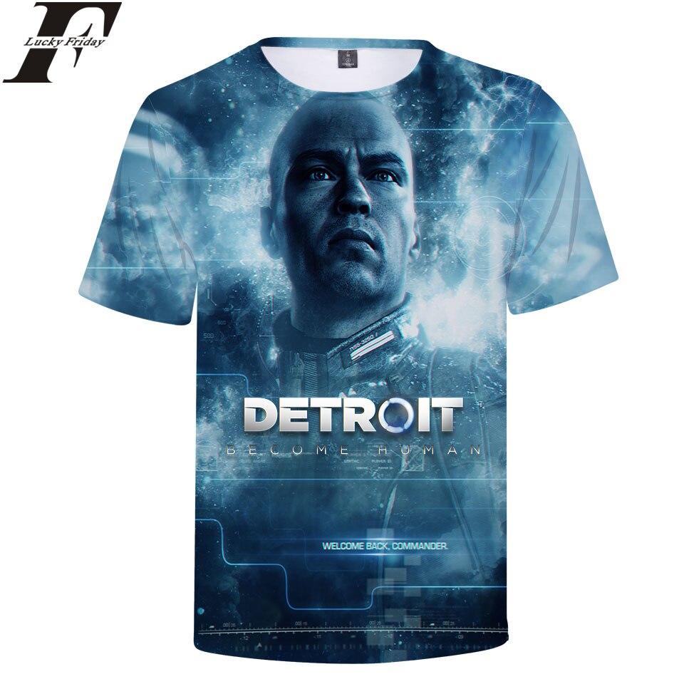 a63c35711c7 LUCKYFRIDAYF 2018 Detroit Become Human 3D Short Sleeve T Shirt RK800  Uniform T shirt Man Women Casual t shirt Clothtes Plus Size-in T-Shirts  from Women s ...