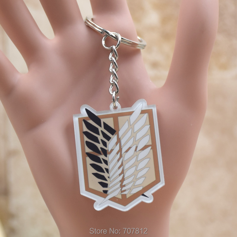 Attack on Titan Shingeki no Kyojin  acrylic Keychain Action Figure Pendant Car Key  Accessories  Key Ring JJJR006 LTX1