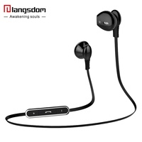 Langsdom L5 Wireless Bluetooth Sport Earphone With Microphone Voice Prompt Csr 4 0 Stereo Bluetooth Earphone