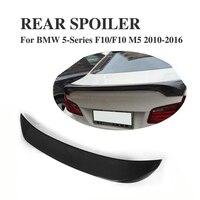 Fibra de carbono Rear Bota Trunk Etiqueta Do Carro Asa Spoiler para BMW Série 5 F10/F10 M5 2010-2016