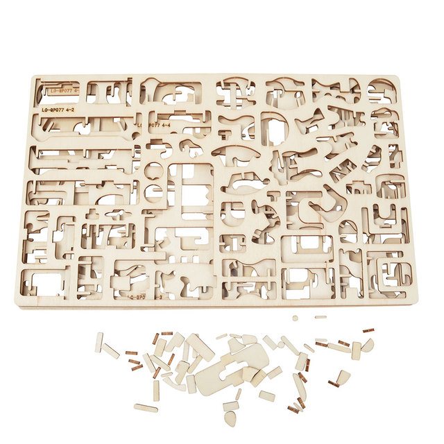 34 pcs Laser Cut – Dollhouse Furnitures – Wooden 3D Puzzle Miniature Models Doll House Accessories Handcraft Toys