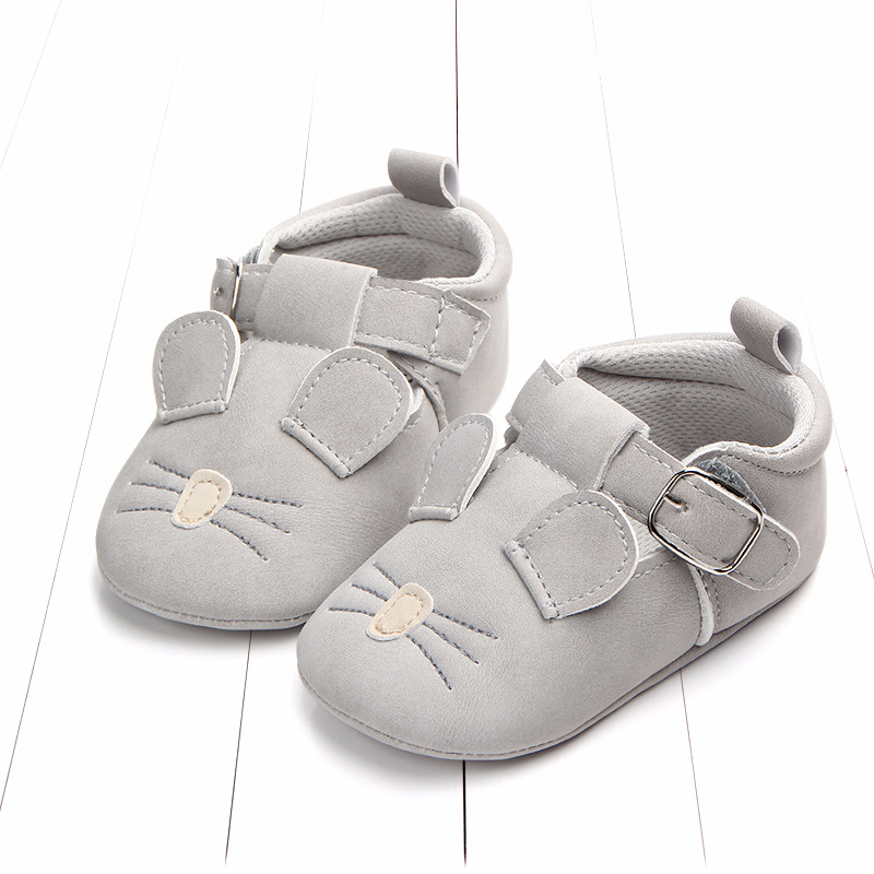 Baby First Walkers Matte leather Shoes for Baby Girl Boy Cartoon Animal Newborn Slippers Footwear Booties Kids Gift Child Shoes (15)