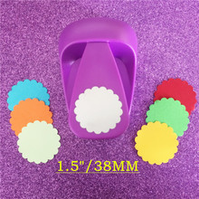 free shipping 38mm Waves round shape EVA foam save power hole punch 1.5 inch wave circle craft punch for paper Scrapbooking