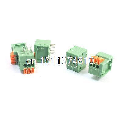 5Pcs 2.54mm Pitch 6Pin DIP Screwless PCB Terminal Block Connector 150V 2A