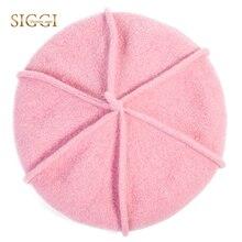 SIGGI 100% Wolle Gestrickte Baretthüte Solide Qualität Für Frauen Weiche  Futter Lässige Bonnet Gorras Planas 3144818d5109
