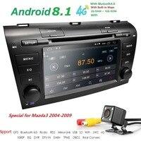 4G Modem Android 8.1 Car DVD For Mazda 3 2004 2009 4G SIM Car Multimedia Mazda 3 Bluetooth 4.0 WIFI Option TPMS Steering Wheel