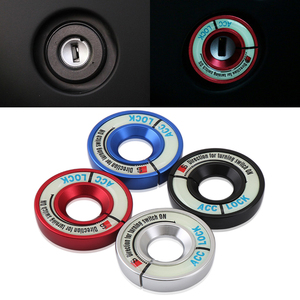 Luminous Aluminum Alloy Ignition Key Ring Switch Cover Interior Accessories For AUDI A1 A3 A4 b5 b6 b7 b8 A5 A6 c5 c6 A7 A8L Q3(China)