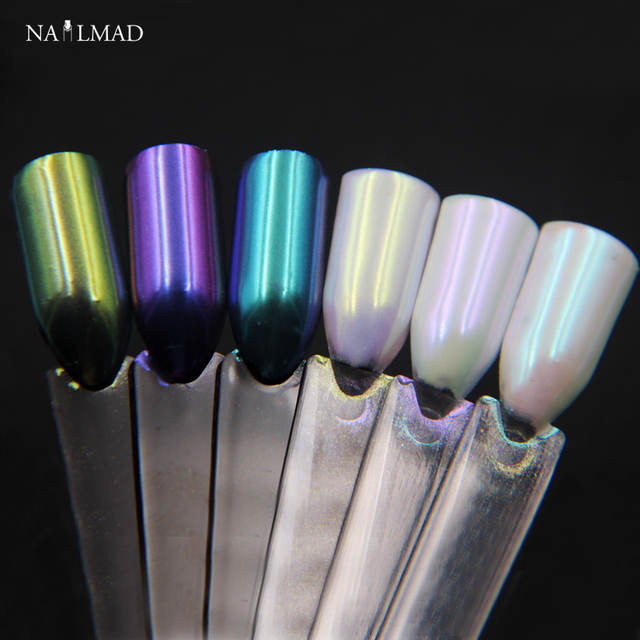 1g NailMAD Chameleon Nail Powder Mirror Chrome Pigment Mermaid Powder Chameleon Pigment