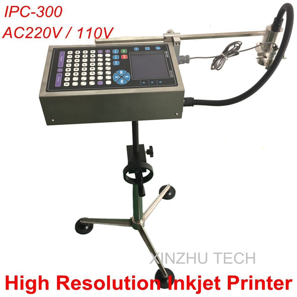 Upgraded Version IPC-300 High Resolution Inkjet Printer Ink Jet Printer Code Printer AC220V/110V Use With Inkjet Printer Conveye free shipping 5 pcs lot 24v 300 400ml m jyy b 30 ink pump outdoor printer solvent inkjet printer printer parts