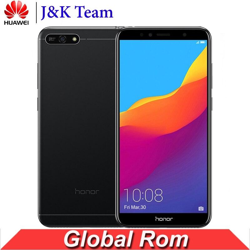 Huawei Honor 7A 2 GB 32 GB Mondial Rom 4G LTE Portable Visage ID Déverrouiller 5.7 pouces Écran Android 8.0 13MP Caméra 3000 batterie mah