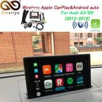 Беспроводной Apple CarPlay и Android auto декодер для Audi A3/B9 3g/3g + MMI muItimedia интерфейс iOS и перевернутое изображение комплект для модернизации