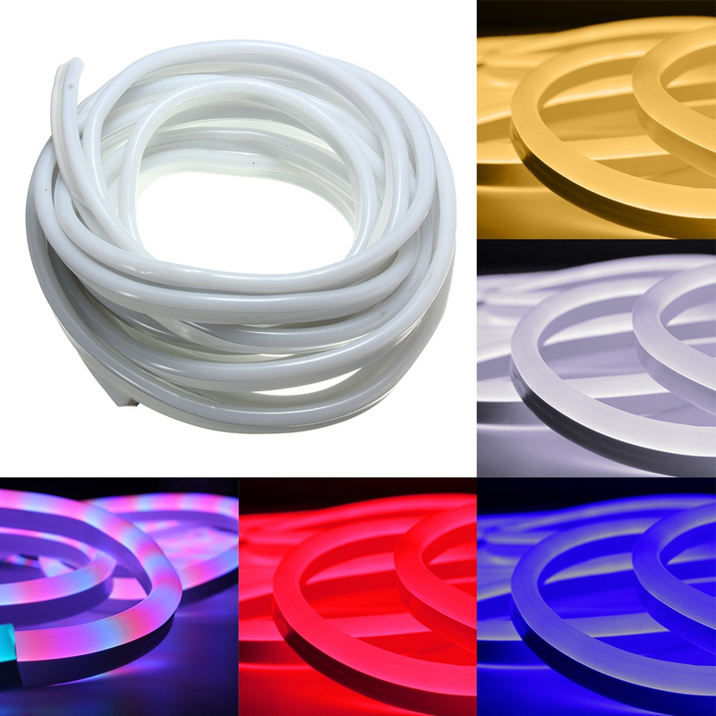 10m Led Neon Rope Strip Bar Light Waterproof 120leds/M SMD 2835 SMD LED Strip Light Flex Soft 220V EU Plug