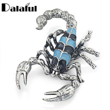 2017 High Quality Chic Brooch Crystals Rhinestone Enamel Scorpion Animal Brooches For Women Wedding Accessories Z007