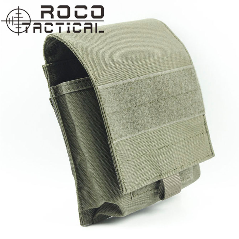 ROCOTACTICAL Molle Military Tactical Magazine Pouch Holds 4pcs M4/M16 Molle Airsoft Army Combat Utility Tool Belt Bum Mag Bag