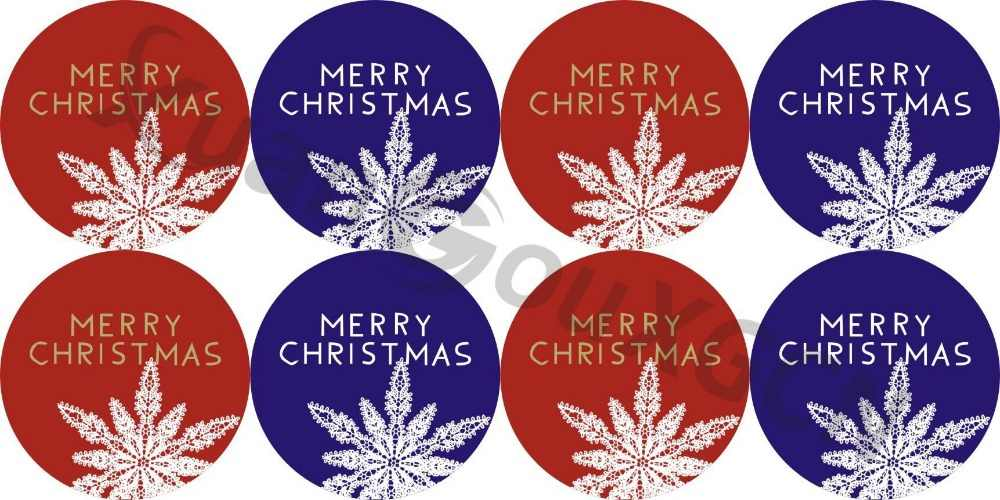 XMAS Labels MERRY CHRISTMAS Stickers Seals Stickers 120 pcs Snowflake Decoration